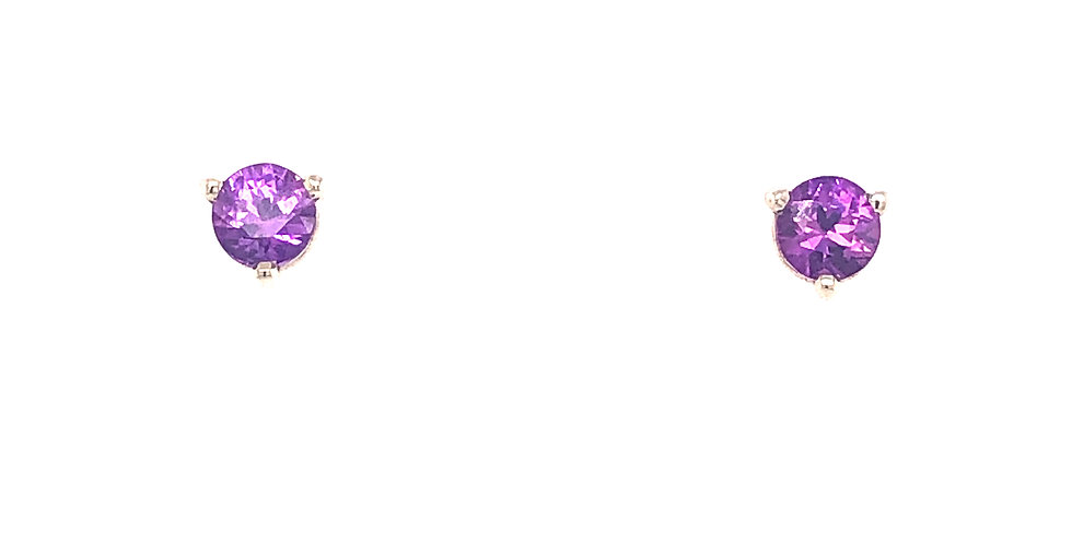 14KW Pink Sapphire Earrings