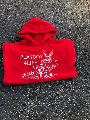 Red Playboy 4Life Hoodie