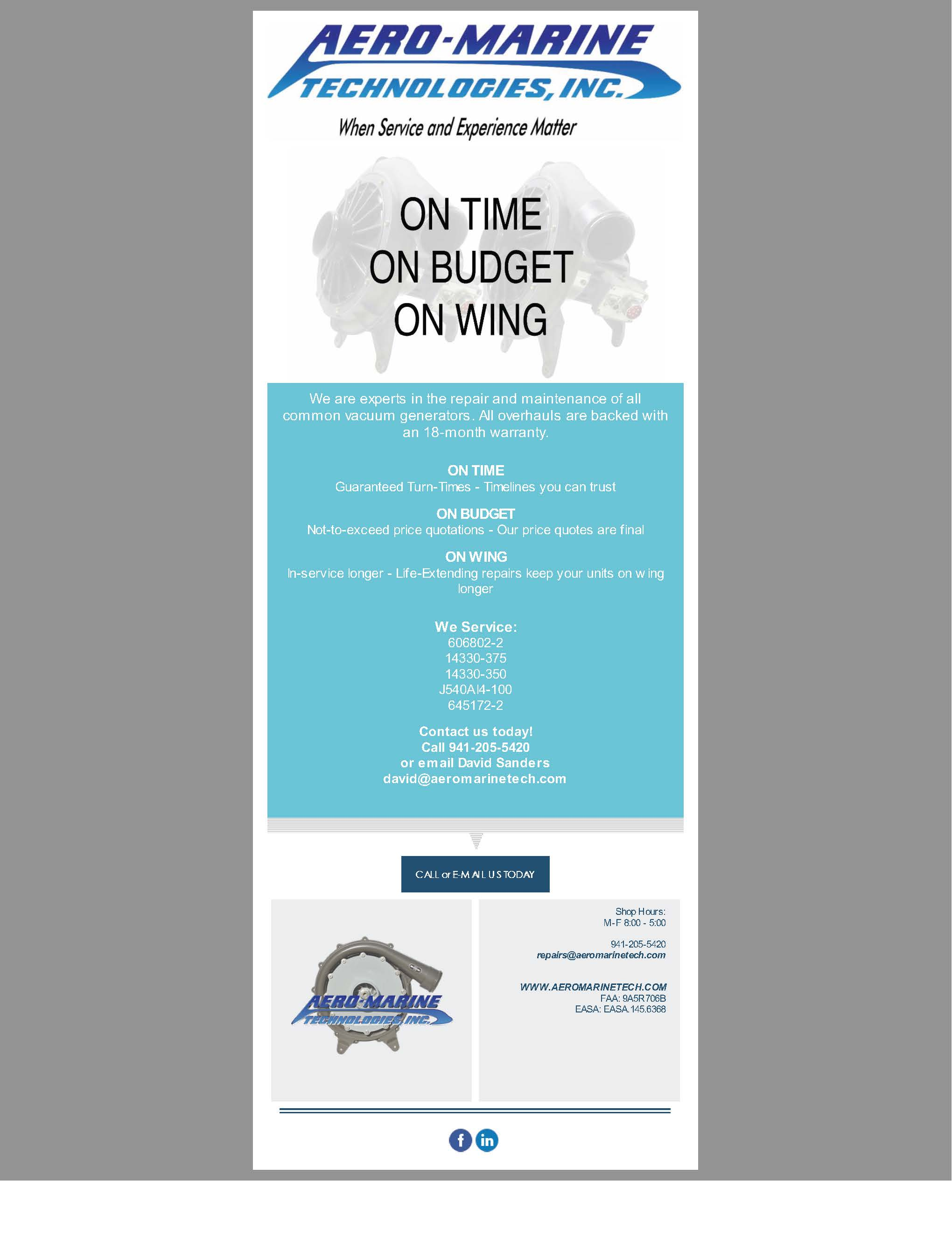 On Time | On Budget | On Wing