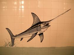 Jumping Swordfish Shower