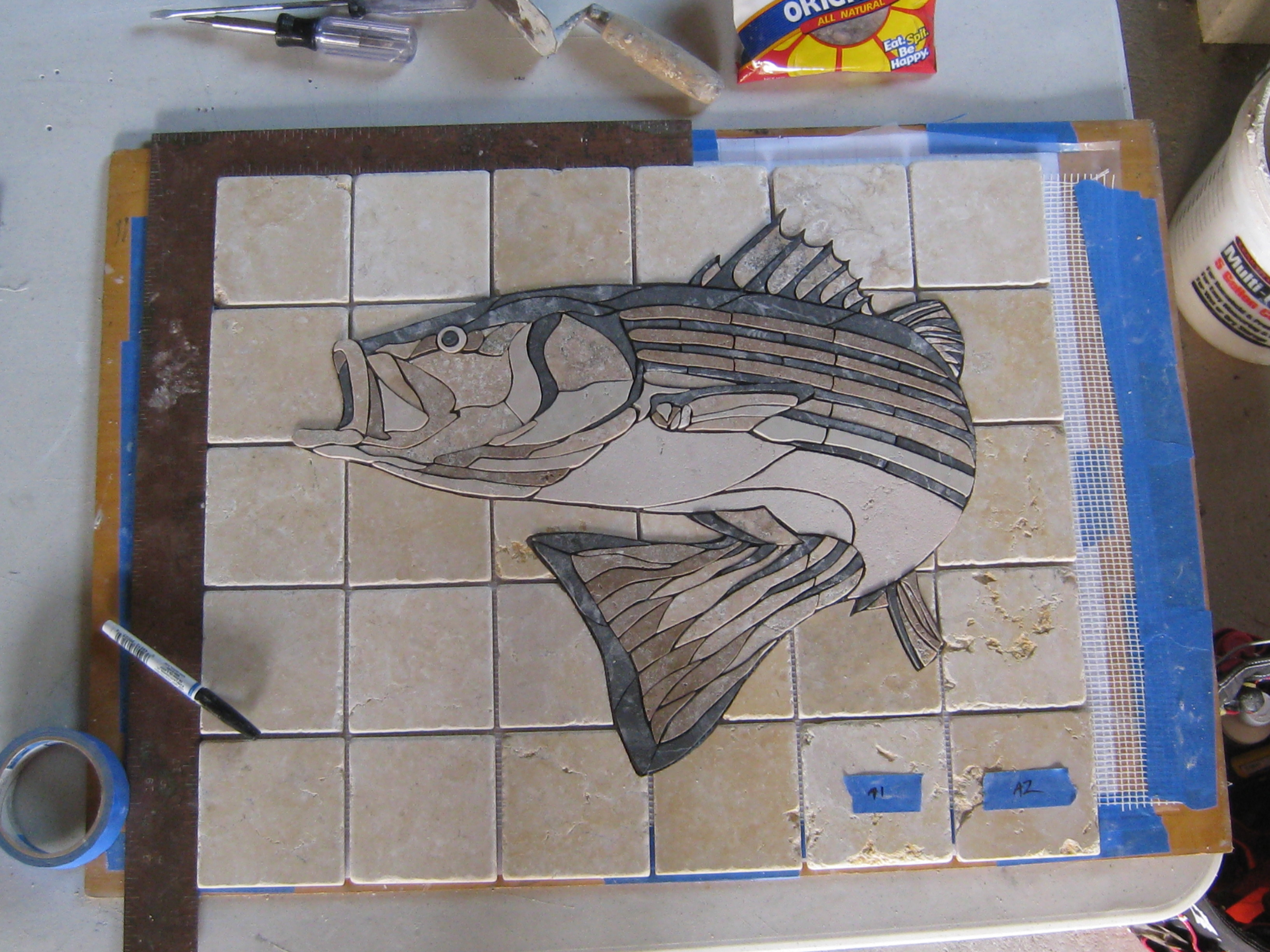 Striper in progress