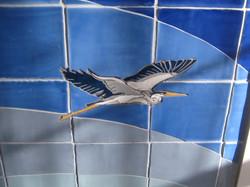 Seascape Blue Heron