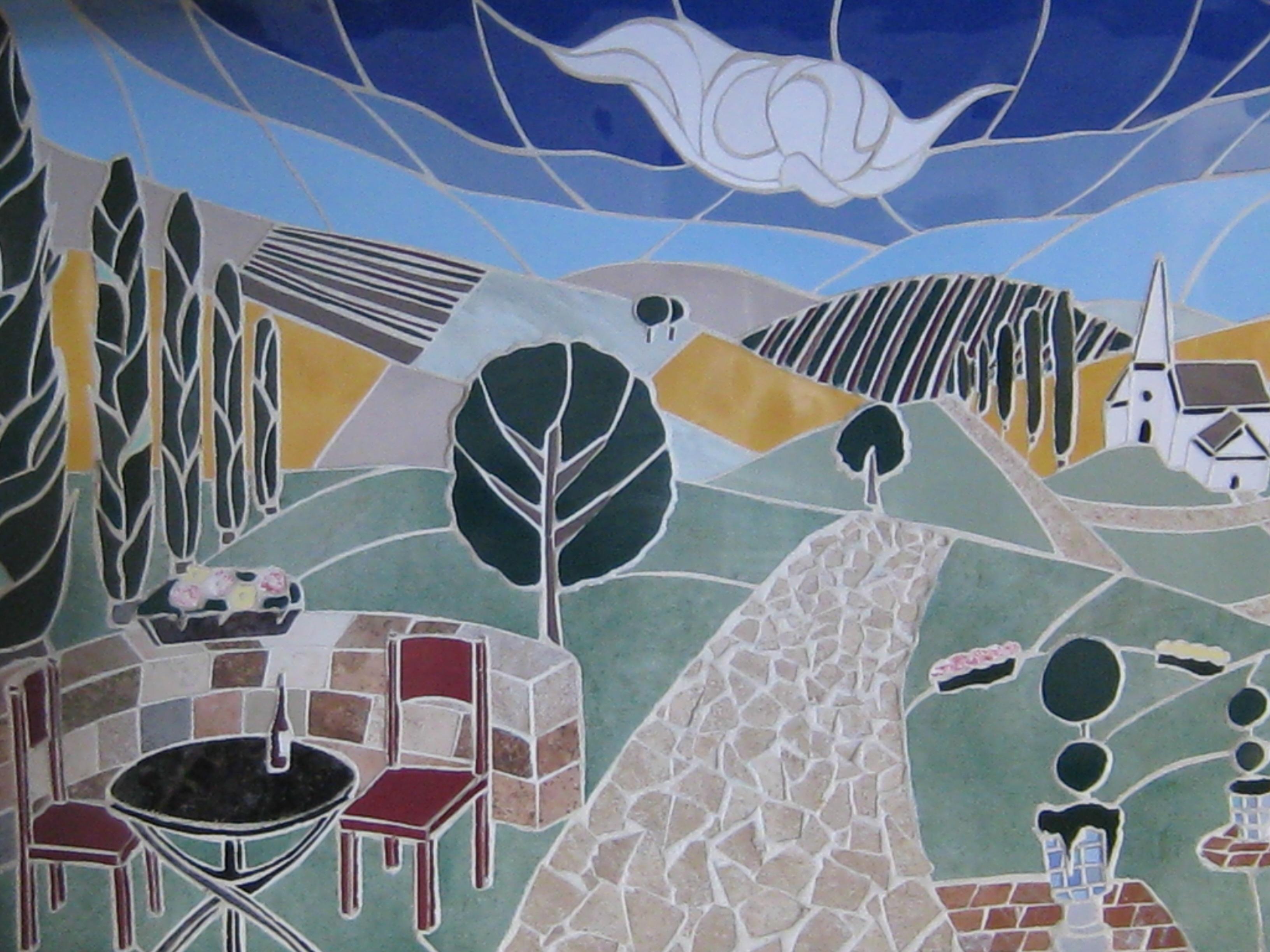 Tuscan Vista Scene