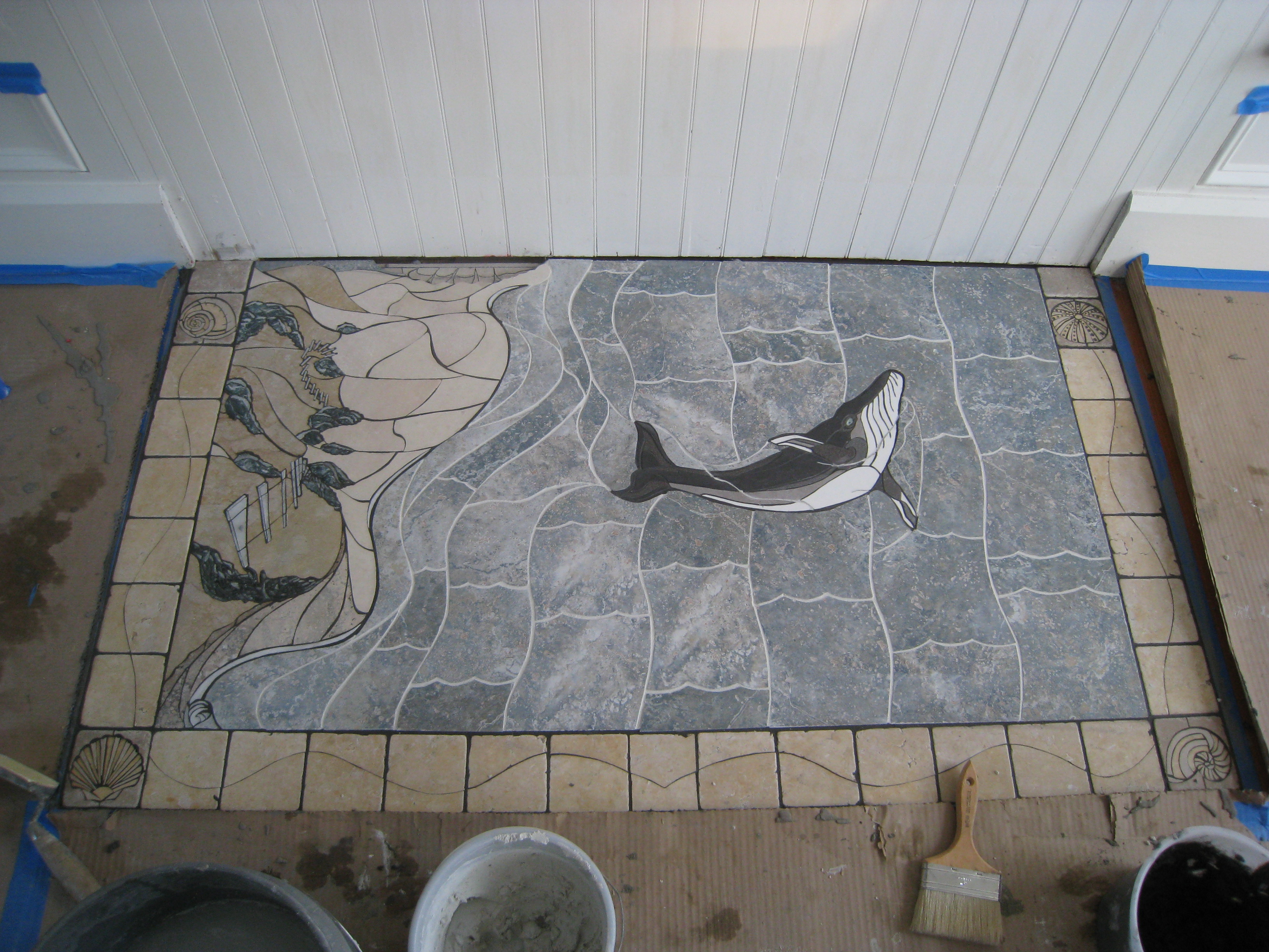 Seascape floor install