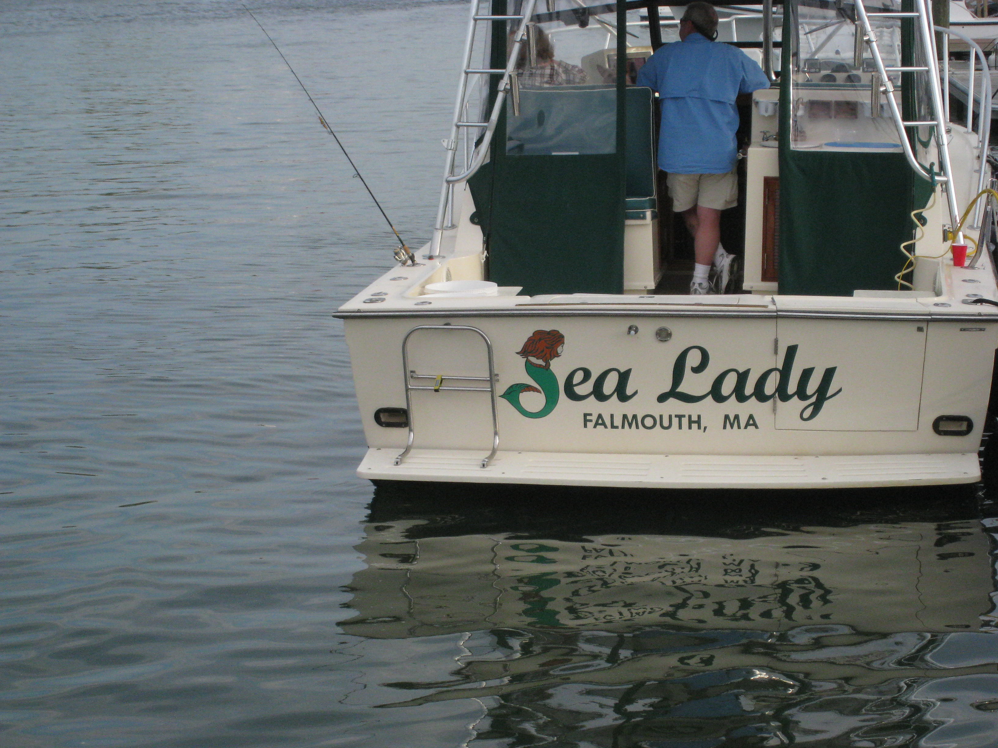 Transom of Sea Lady Boat