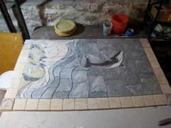 Seascape in progress