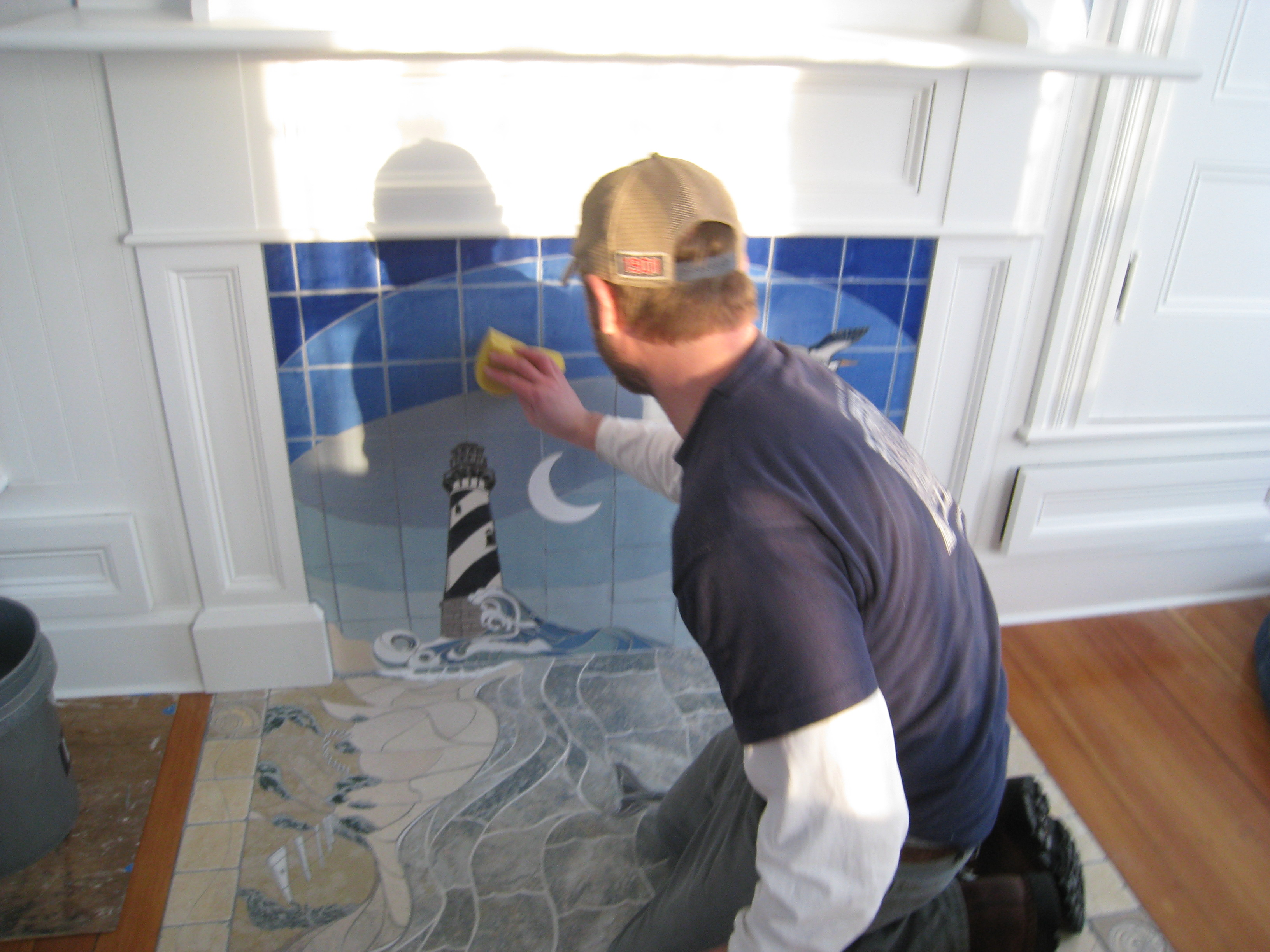 Seascape finishing touches