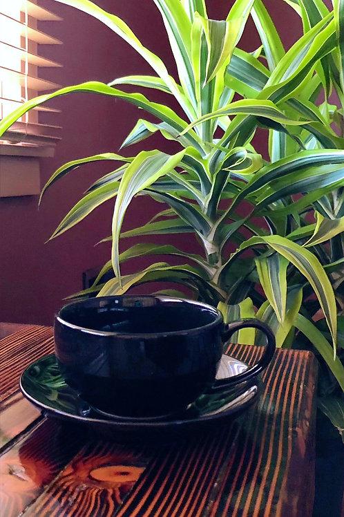 Black Tea Cup and Saucer