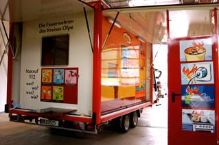 Ein neues Infomobil zur Brandschutzerziehung für die Feuerwehr Lennestadt.