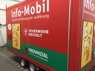 Auch die Feuerwehr in Bocholt hat nun ein Infomobil!