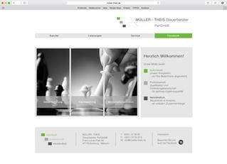 Ein neues Logo, Internetpräsenz, Facebook-Fanpage und Geschäftsausstattung für MÜLLER-THEIS Steuerbe