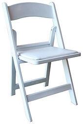 gladiator white padded chair.JPG