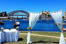 Wedding Window with Curtain