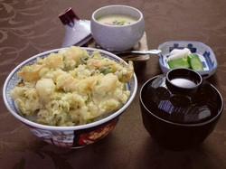 茶わん蒸し付きかき揚げ天丼 1200円