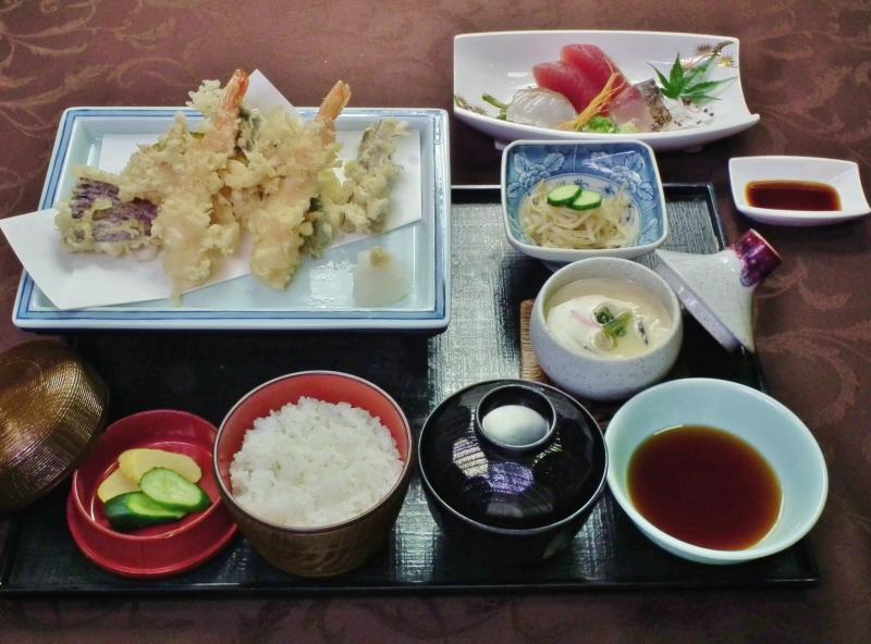 天ぷらの膳「竹」2200円