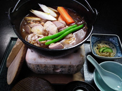シャモ鳥鍋の膳 1700円