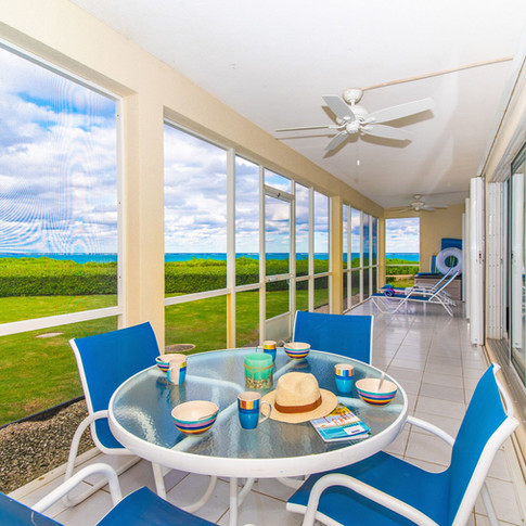 Enjoy meals on your private 40 foot porch.