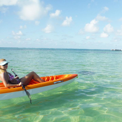 Kayak over to Starfish Point.