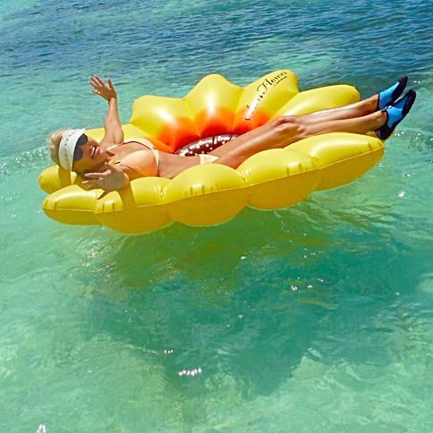 Condo has floats, toys & snorkel stuff