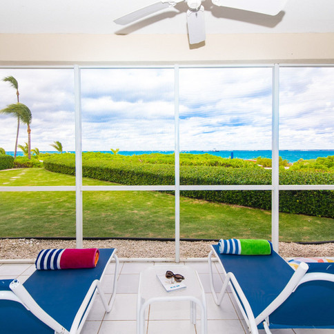Chill out in complete privacy on your own porch with fans.