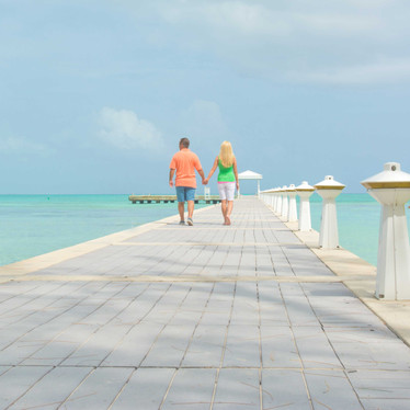 Rum Point's romantic dock. Excursions leave from here!