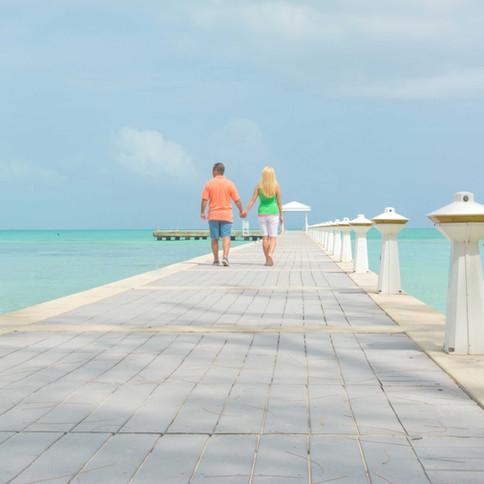 Rum Point's romantic dock