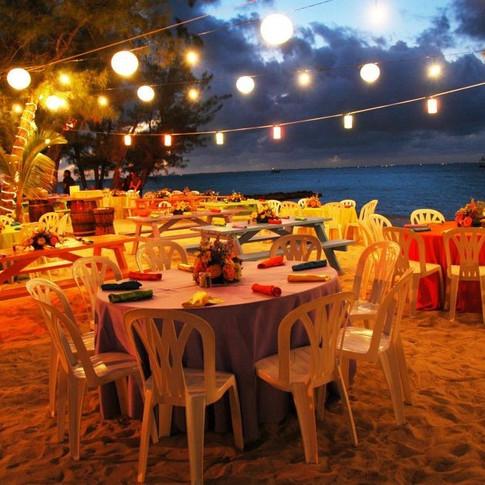 Enjoy music and beach Buffet next door