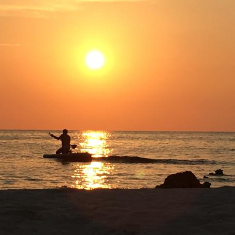 Retreat 23 beach at sunset