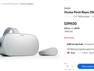 В Walmart появился (и пропал) Oculus Point Reyes