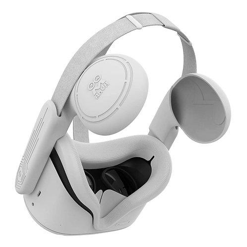 силиконовая накладка для лица + кожух для усиления звука для Oculus Quest 2
