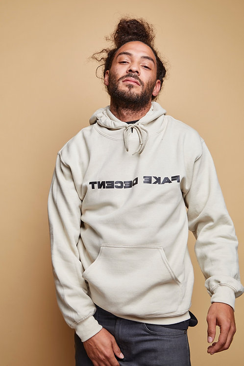 Sand Fake Decent Font Hoodie
