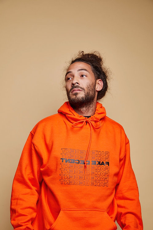 "Orange ""Thank You"" Fake Decent Hoodie"
