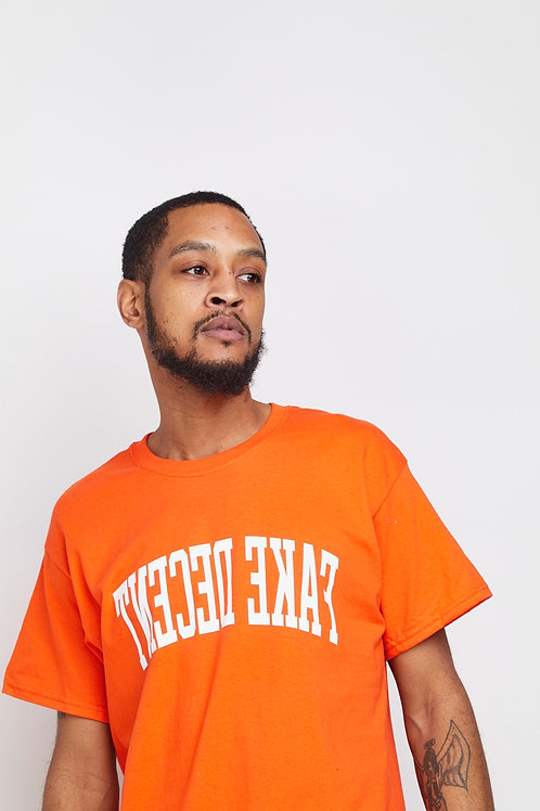 Orange Fake Decent Bold Tee