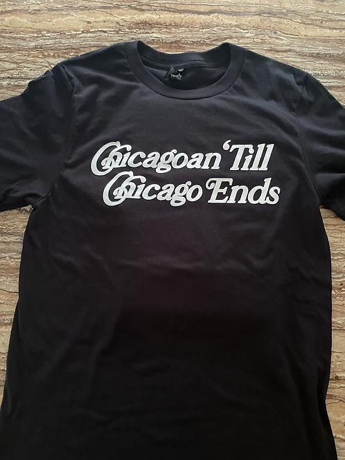 Black Chicagoan Till Chicago End Tee