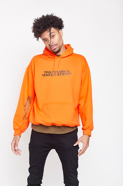 OG Orange Fake Decent Hoodie