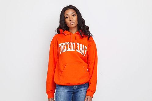 Orange Fake Decent Bold Hoodie (UNISEX)