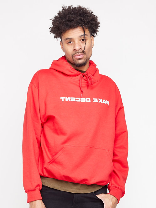 Red Fake Decent Font Hoodie