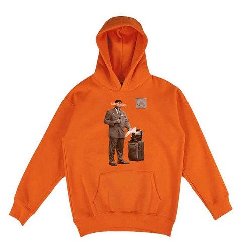 Orange Fake Famous Hoodie