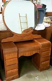 1950's MCM Vanity with Mirror