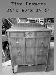 Early 1900's Five Drawer Dresser