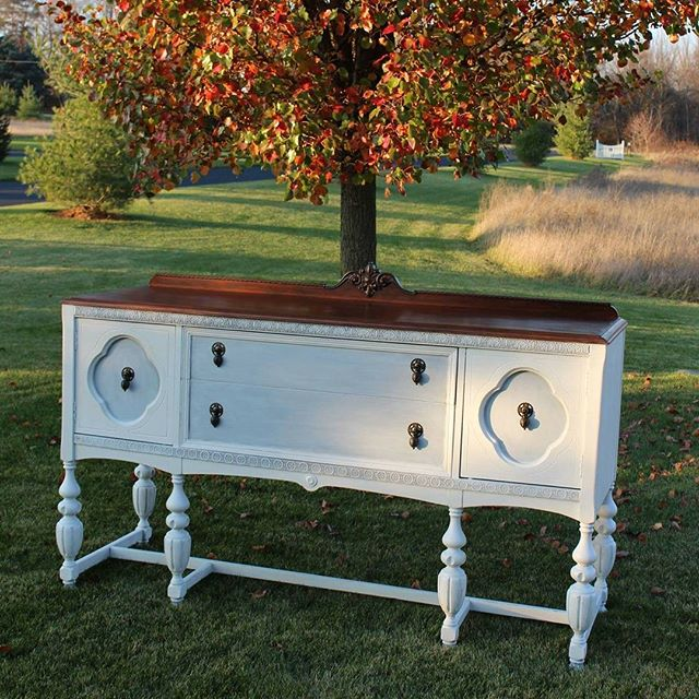 I painted this sideboard buffet 2 years