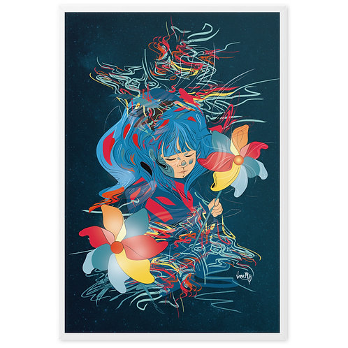 Ruana. Wind Vanes Version - Framed Art Print