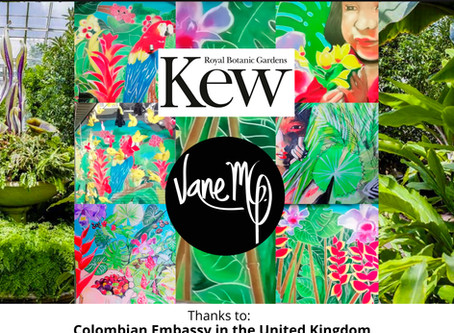 The First Artist that has painted inside Kew Gardens is Colombian. Vane MG