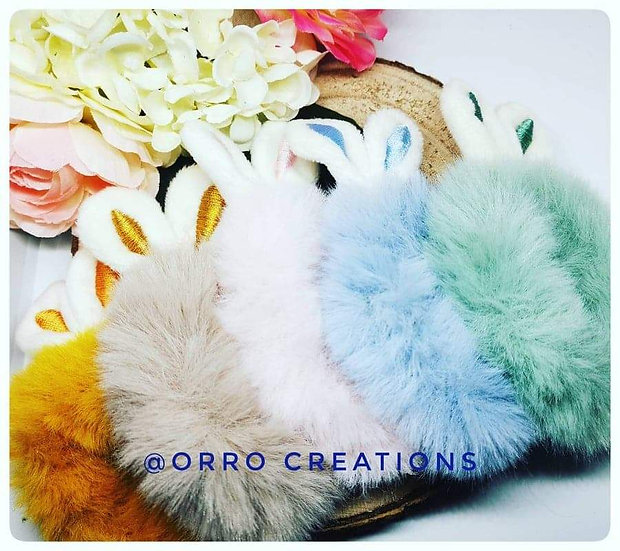 S-Soft Faux Rabbit Fur Scrunchie