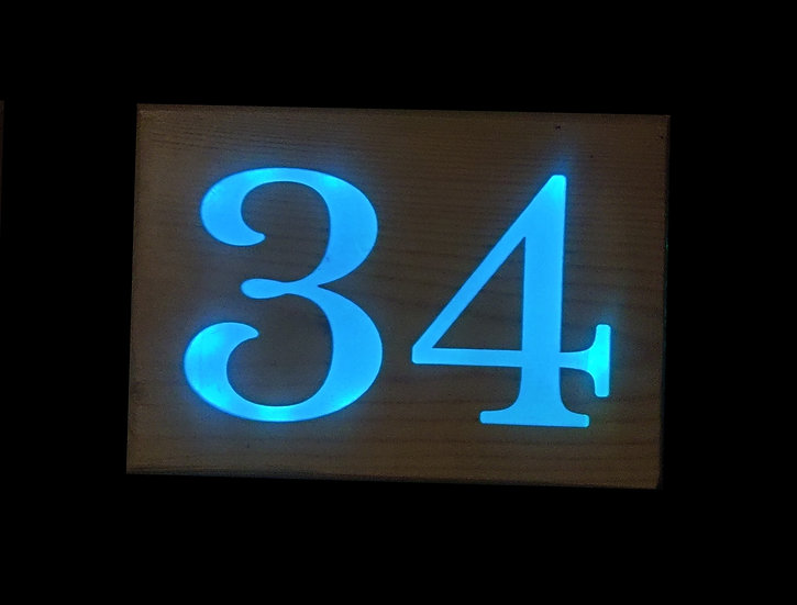 Number house sign only