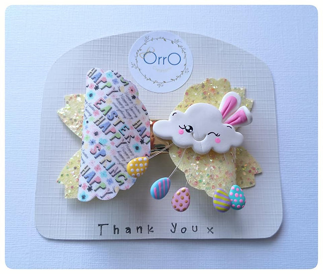 """3.5"""" Easter Bow and Cloud"""
