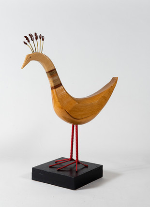 Imaginary decorated bird