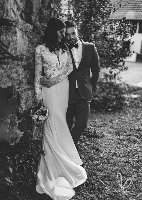 Séance photo de mariage. Jeune mariés. Mars 2021.