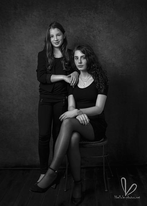Deux fille. Shooting en studio à Molsheim
