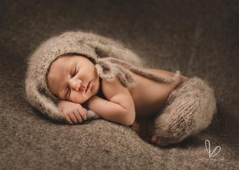 Bébé, bonnet - petit lapin